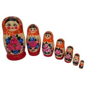 ruska babuska matrjoska 7 lutk oranzno sonce kupiti v ljubljani